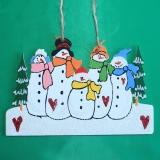 Семья снеговиков wood6