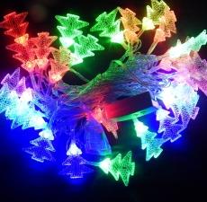 Гірлянда нитка 40LED з насадкою ялинка 40 LED RGB