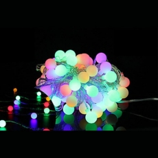 Гірлянда нитка 40LED з насадкою куля 40 LED RGB