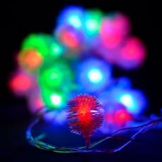 Гірлянда нитка 40LED з насадкою їжачок 40 LED RGB