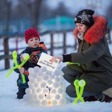 Снежколеп Кристал LED с подсветкой Іграшка Сніжколіп Кристал LED