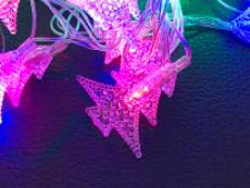 Гірлянда нитка 40LED з насадкою ялиночка 40 LED RGB