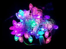 Гірлянда нитка 40LED з насадкою шишка 40 LED RGB