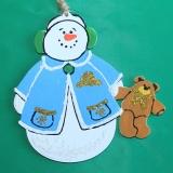Снеговик с мишкой wood5