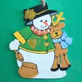 Снеговик с оленем wood4