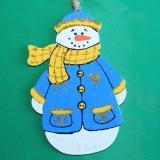 Снеговик в синем wood2
